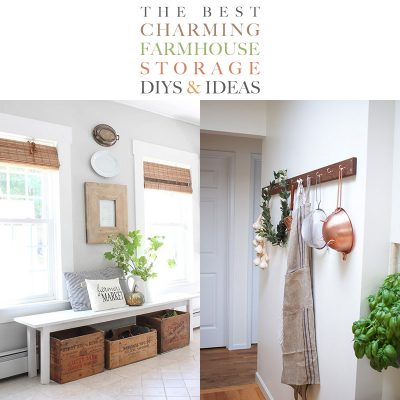 The Best Charming Farmhouse Storage DIYS and Ideas