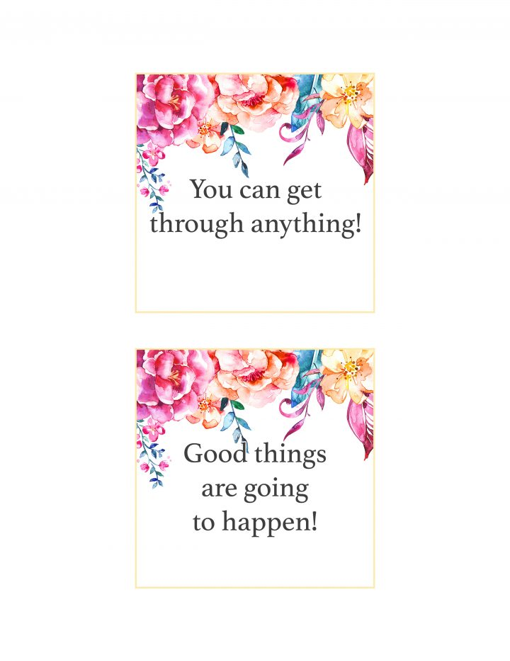picture regarding Affirmation Cards Printable called Totally free Printable Floral Confirmation Playing cards /// In the direction of Place a