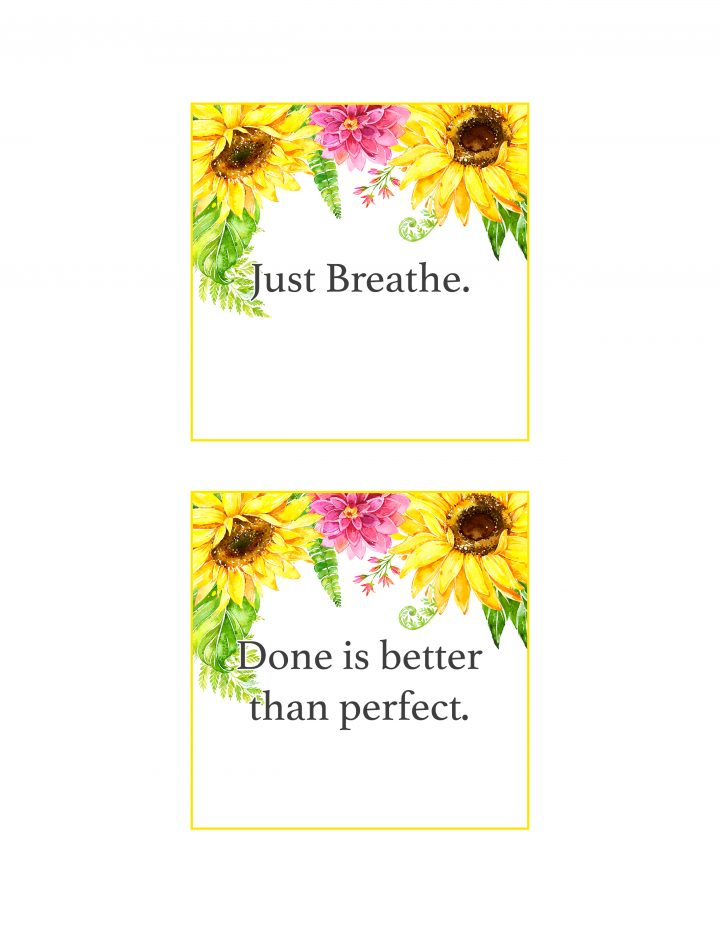 photograph about Free Printable Affirmation Cards titled No cost Printable Floral Confirmation Playing cards /// In direction of Position a
