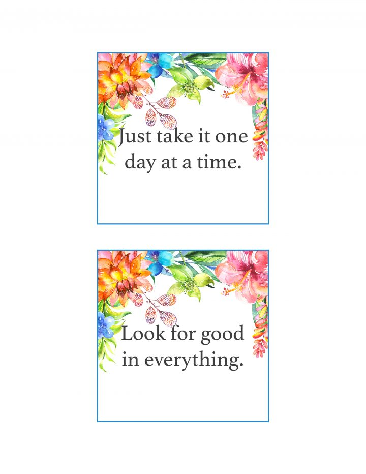 graphic about Free Printable Affirmation Cards named Absolutely free Printable Floral Confirmation Playing cards /// Toward Spot a
