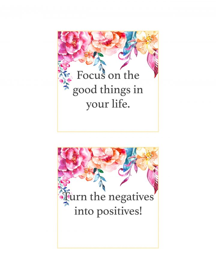 graphic relating to Free Printable Affirmation Cards identified as No cost Printable Floral Confirmation Playing cards /// In direction of Spot a