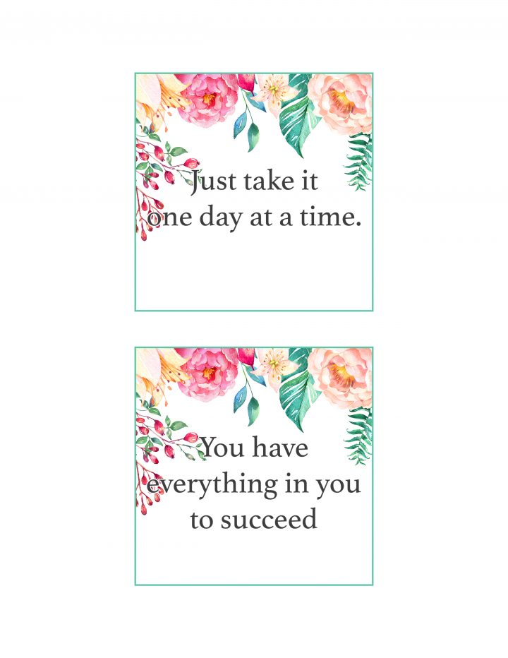 picture relating to Affirmation Cards Printable titled No cost Printable Floral Confirmation Playing cards /// In direction of Spot a