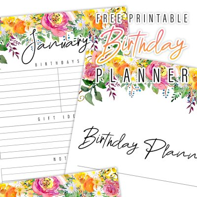 Free Printable Birthday Planner To Get You Organized