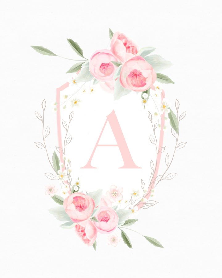 Pretty in Pink Free Printable Monograms are just waiting for you to print them out and create beautiful creations with them. From Banners to Cards... enjoy!