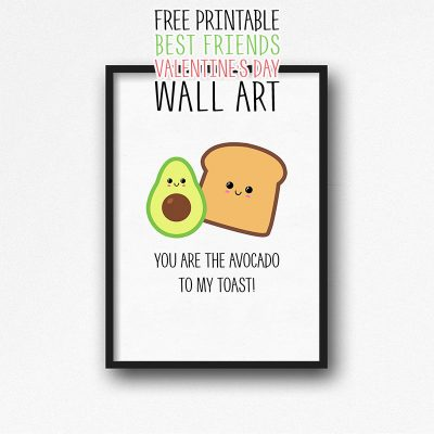 Free Printable Best Friends Valentine's Day Wall Art