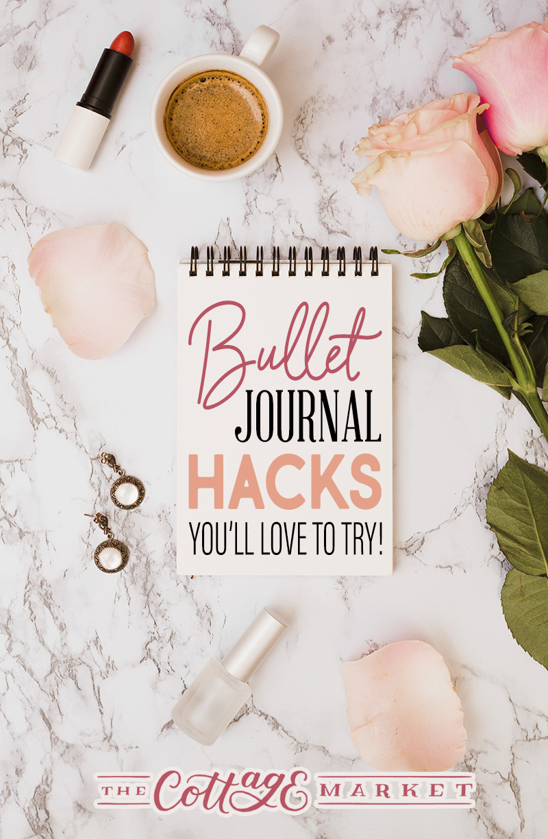 Check out these Bullet Journal Hacks You'll Lov to Try With Free Printables! Fun Hacks you can apply to your day to day Bullet Journaling!