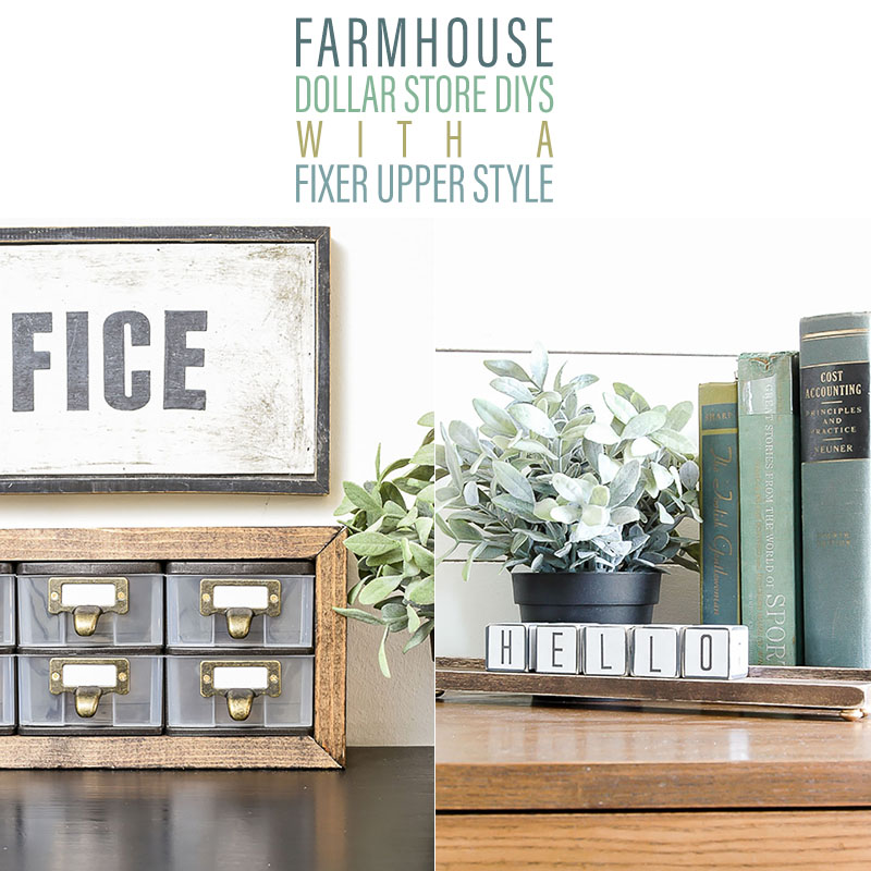 Dollar Store Diy: FARMHOUSE DOLLAR STORE DIYS With Fixer Upper Style