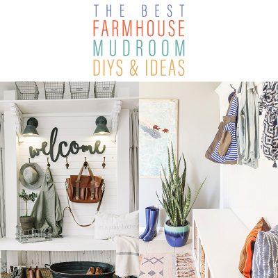 The Best Farmhouse Mudroom DIYS & Ideas