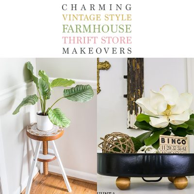 Charming Vintage Style Farmhouse Thrift Store Makeovers