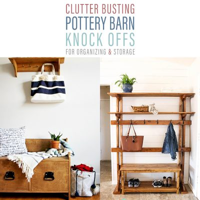 Clutter Busting Pottery Barn Knock-Offs for Organizing & Storage