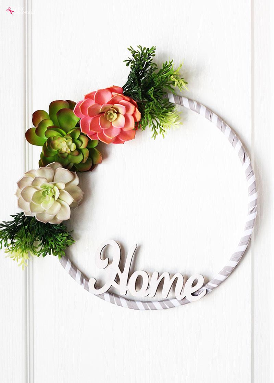 Hoop Wreath Farmhouse