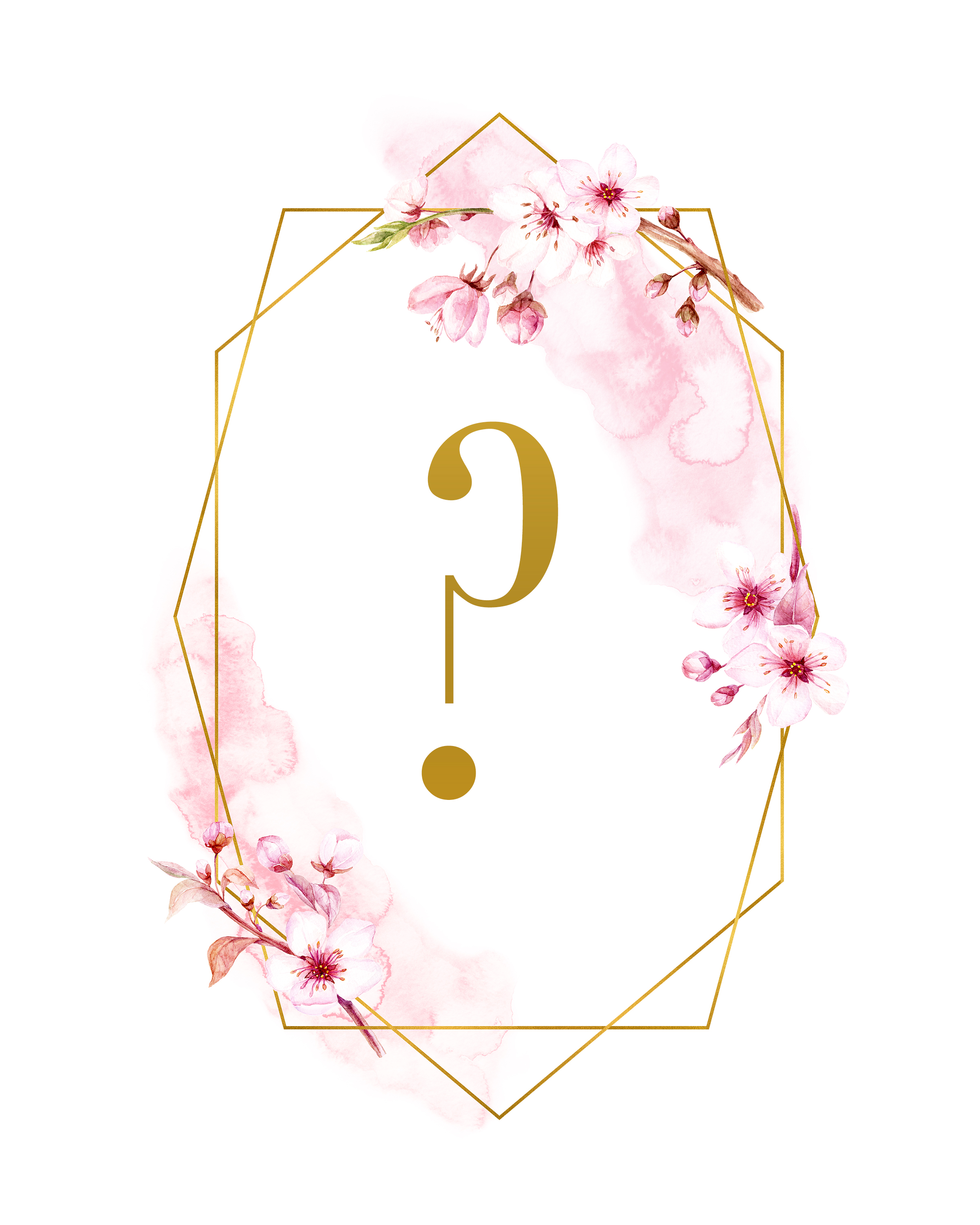 graphic regarding Printable Question Mark referred to as Totally free Printable Spring Season GLAM Monograms - The Cottage Industry