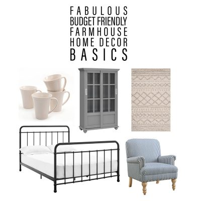 Fabulous Budget Friendly Farmhouse Home Decor Basics