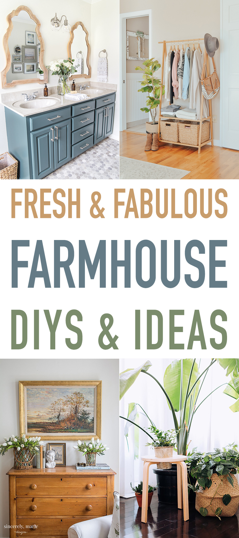 Fresh and Fabulous Farmhouse DIYS and Ideas!