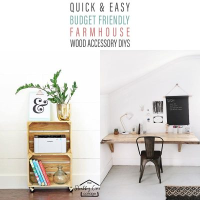 Quick & Easy Budget Friendly Farmhouse Wood Accessory DIYS