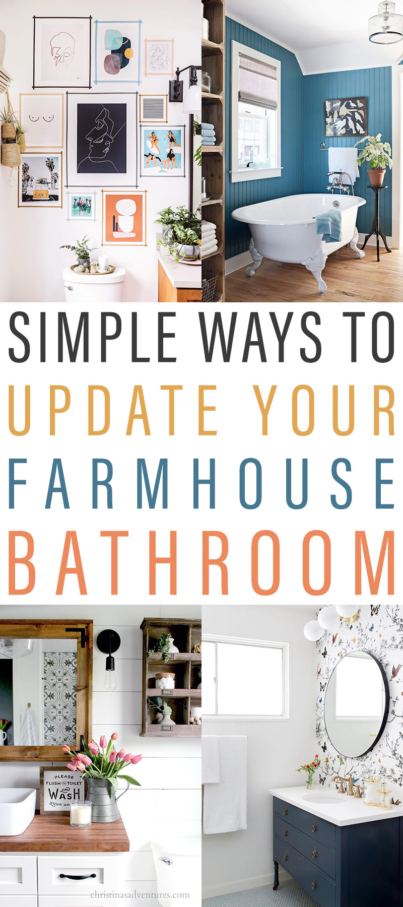 Simple Ways to Update Your Farmhouse Bathroom