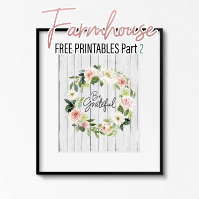 Farmhouse Free Printables Part 2 /// 8 Print Set Available in 5×7 and 8×10