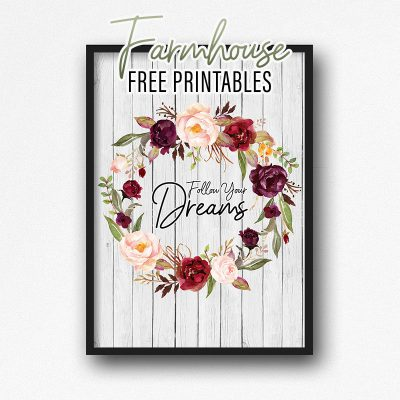 Farmhouse Free Printables /// 8 Print Set Available in 5×7 and 8×10