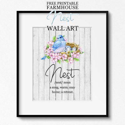 Free Printable Farmhouse Nest Wall Art