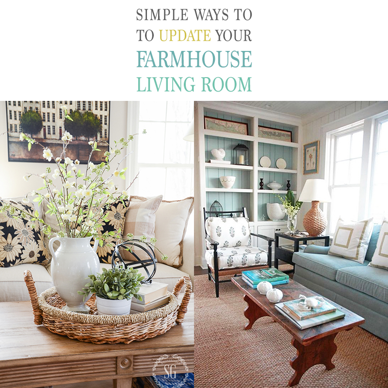 A Little Change Hereu2026 A Touch Of Paint Thereu2026 A Fun Furniture Makeover And  Much More. Letu0027s Explore Some Simple Ways To Update Your Farmhouse Living  Room.