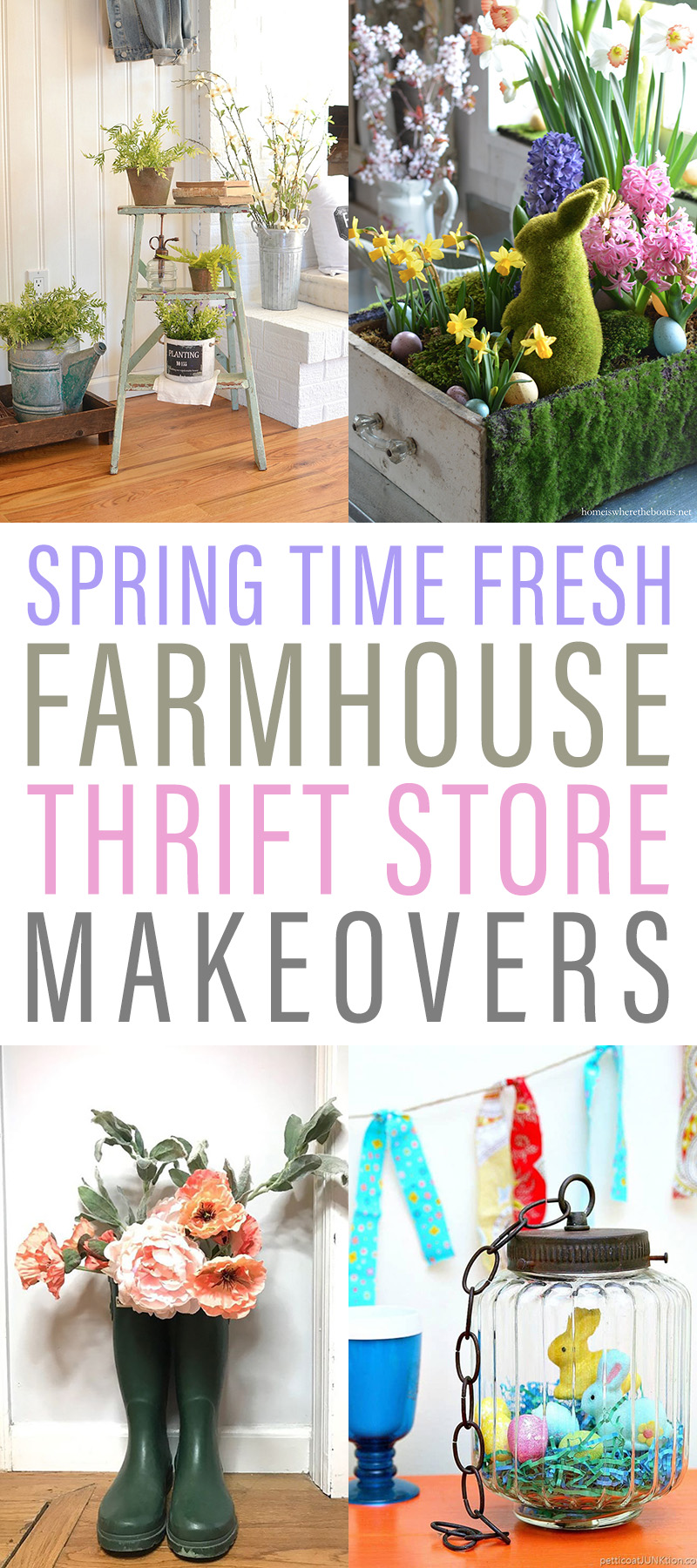 Spring Time Fresh Farmhouse Thrift Store Makeovers