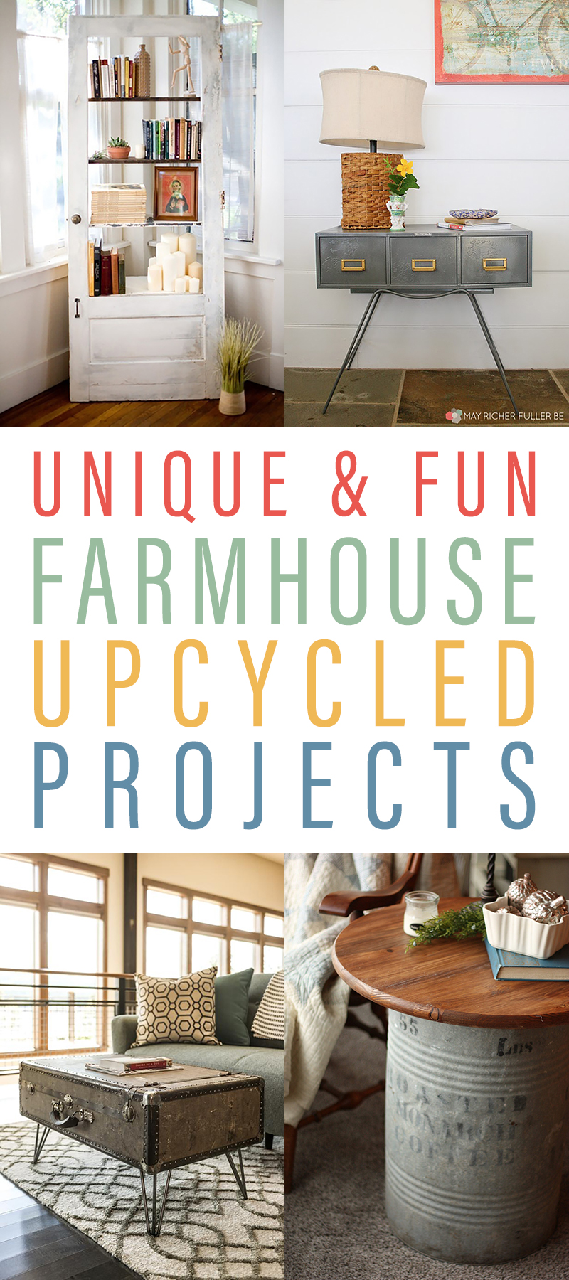 Unique and Fun Farmhouse Upcycled Projects