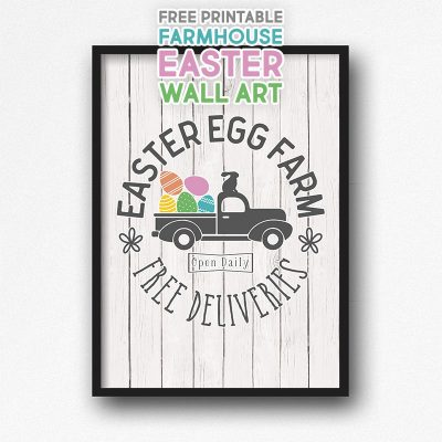 Free Printable Farmhouse Easter Wall Art