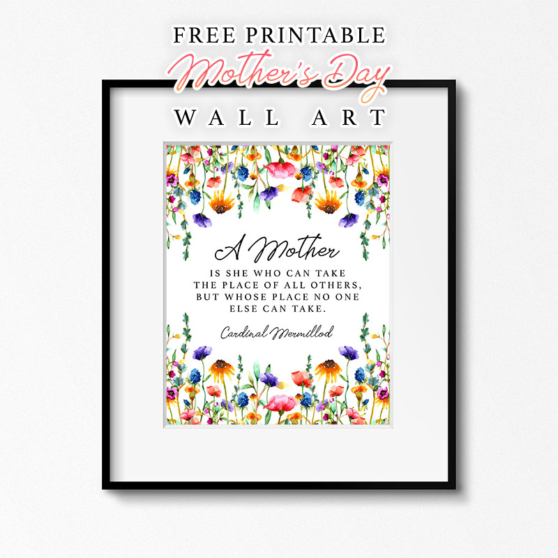 Free Printable Mothers Day Wall Art