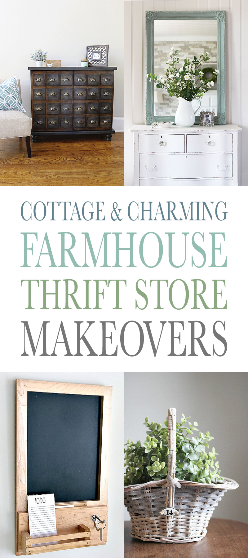 Cottage and Charming Farmhouse Thrift Store Makeovers