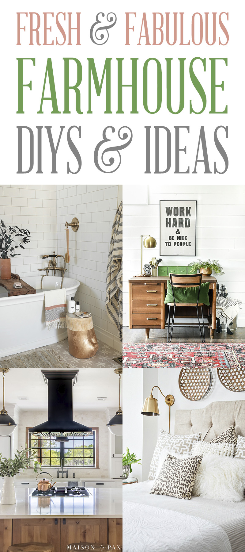 Fresh and Fabulous Farmhouse DIYS And Ideas