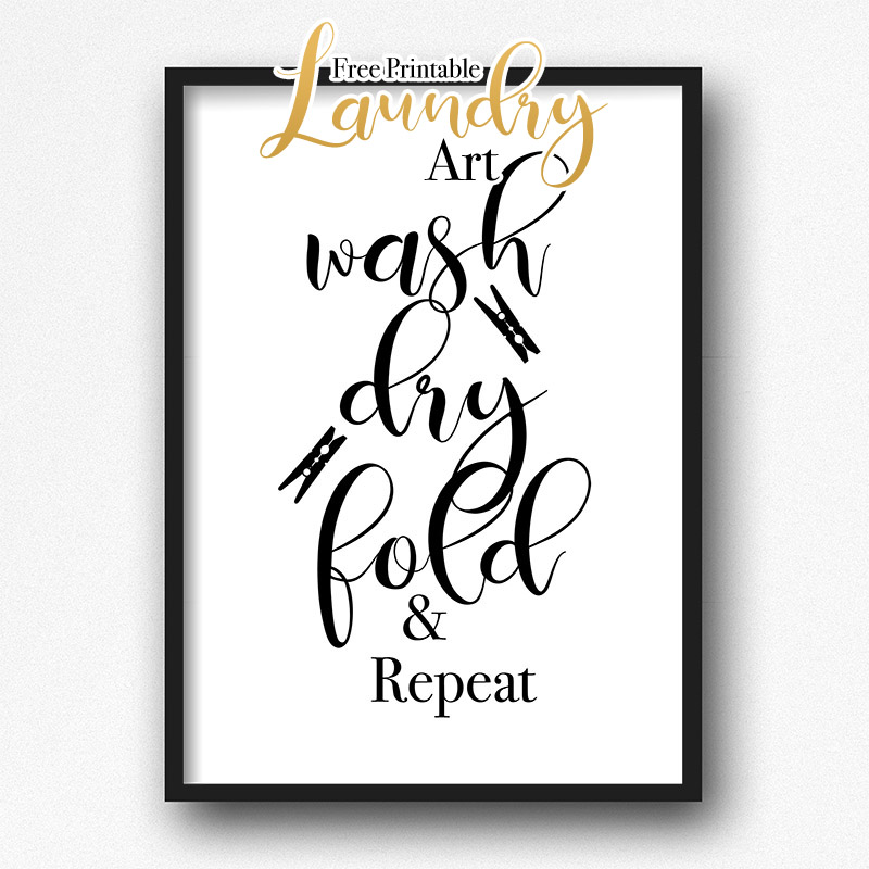 Free Printable Laundry Art Wall Collection