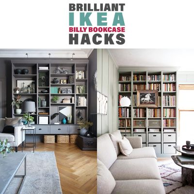 Brilliant IKEA Billy Bookcase Hacks