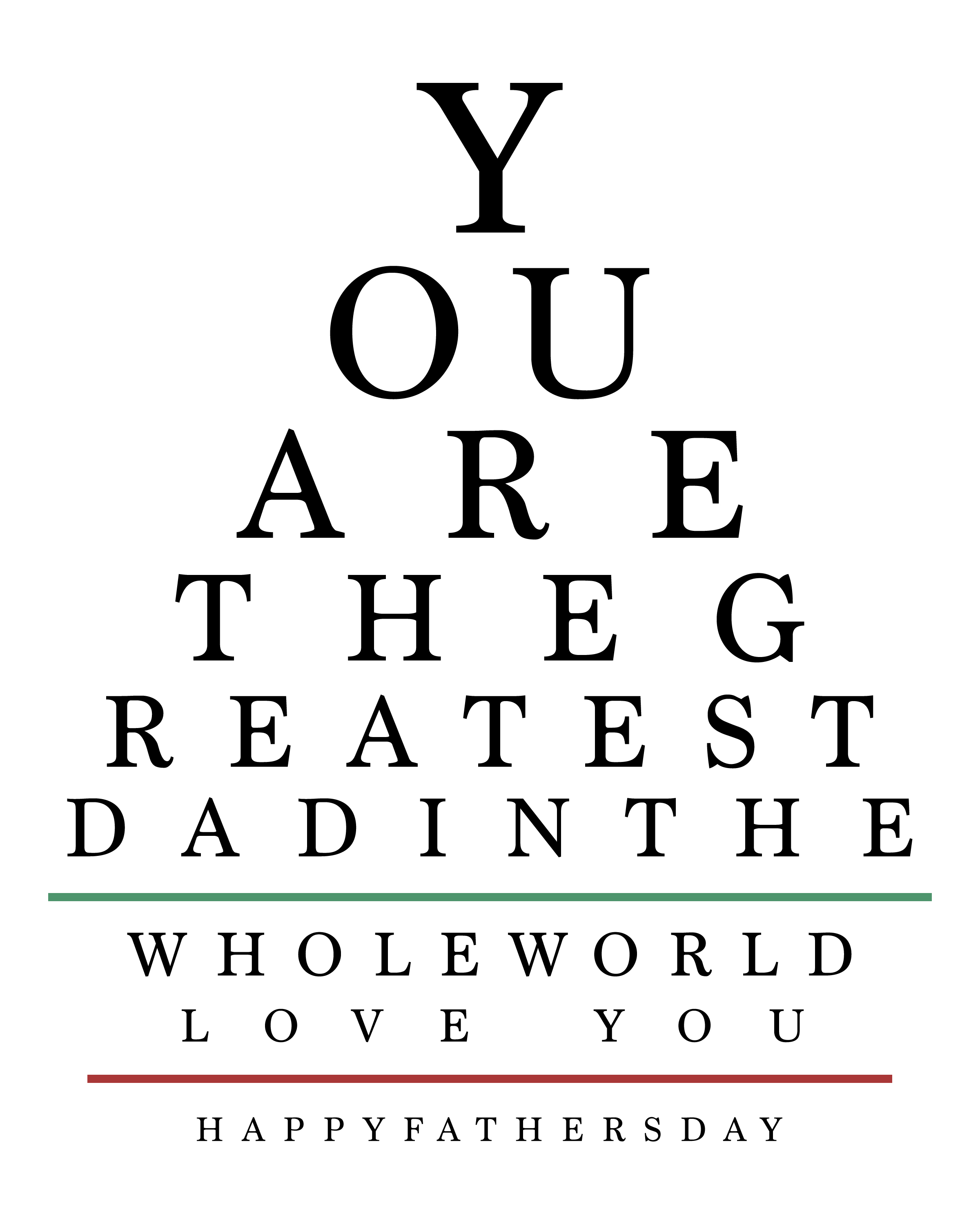 photograph regarding Free Printable Eyes named Totally free Printable Fathers Working day Eye Chart Assortment - The