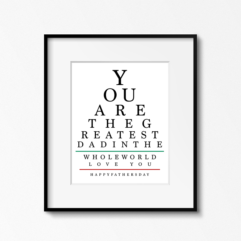 picture relating to Free Printable Eyes named Absolutely free Printable Fathers Working day Eye Chart Range - The