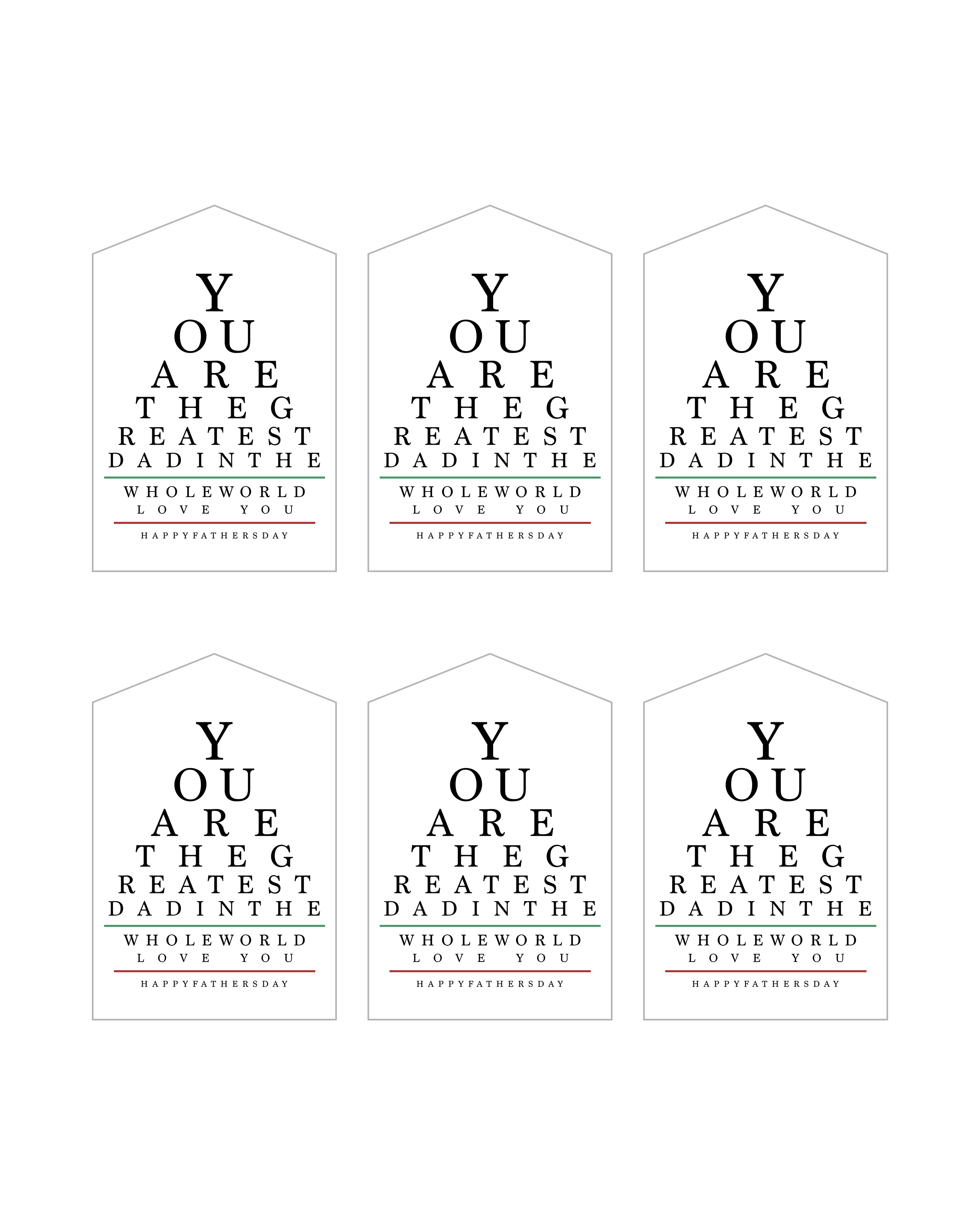 graphic relating to Free Printable Eyes named No cost Printable Fathers Working day Eye Chart Variety - The
