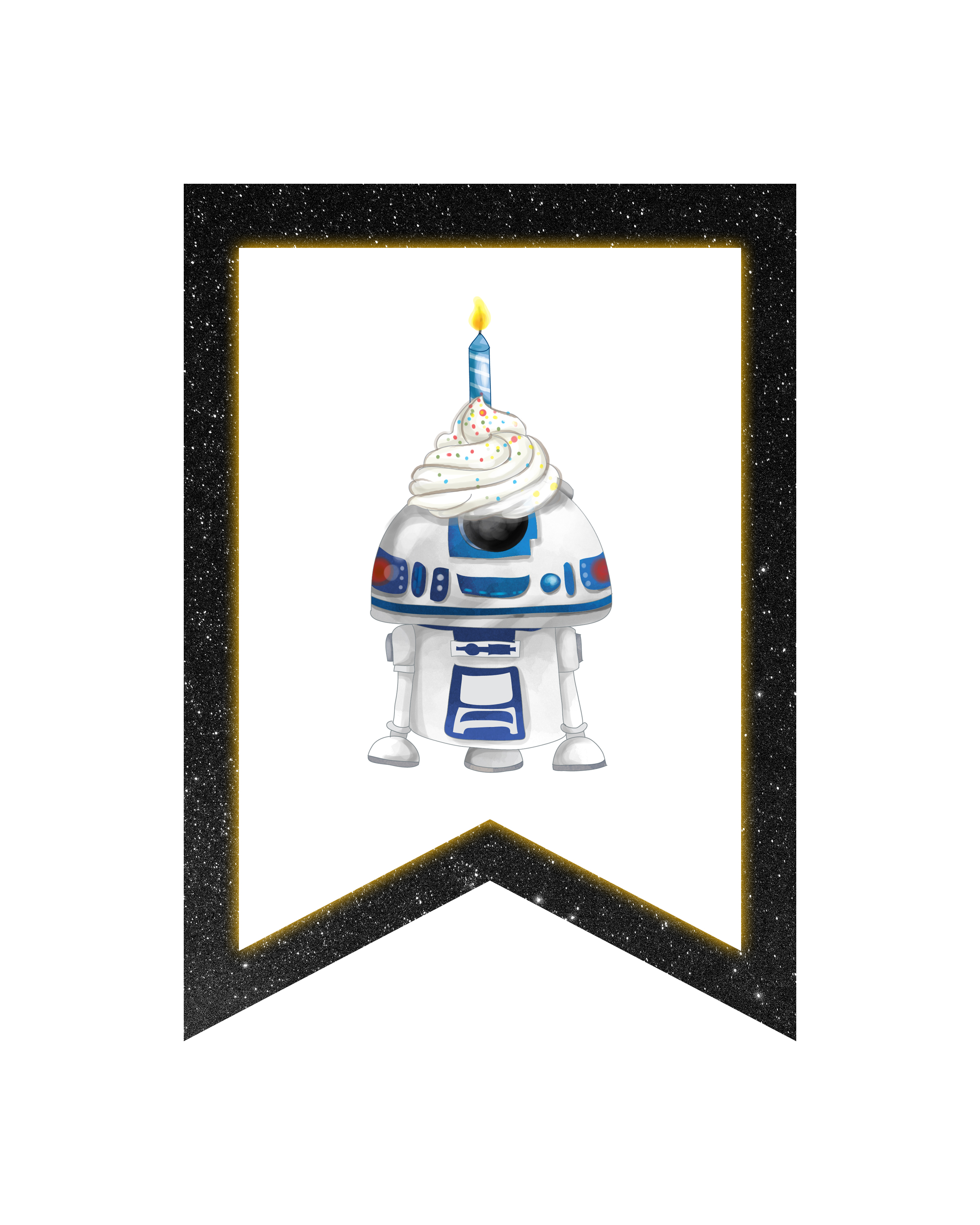 photograph regarding R2d2 Printable named No cost Printable Star Wars Get together Pack - The Cottage Sector
