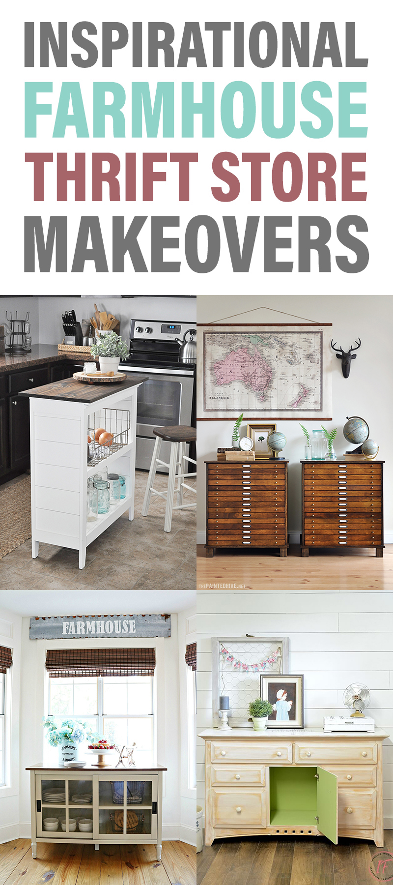 Inspirational Farmhouse Thrift Store Makeovers