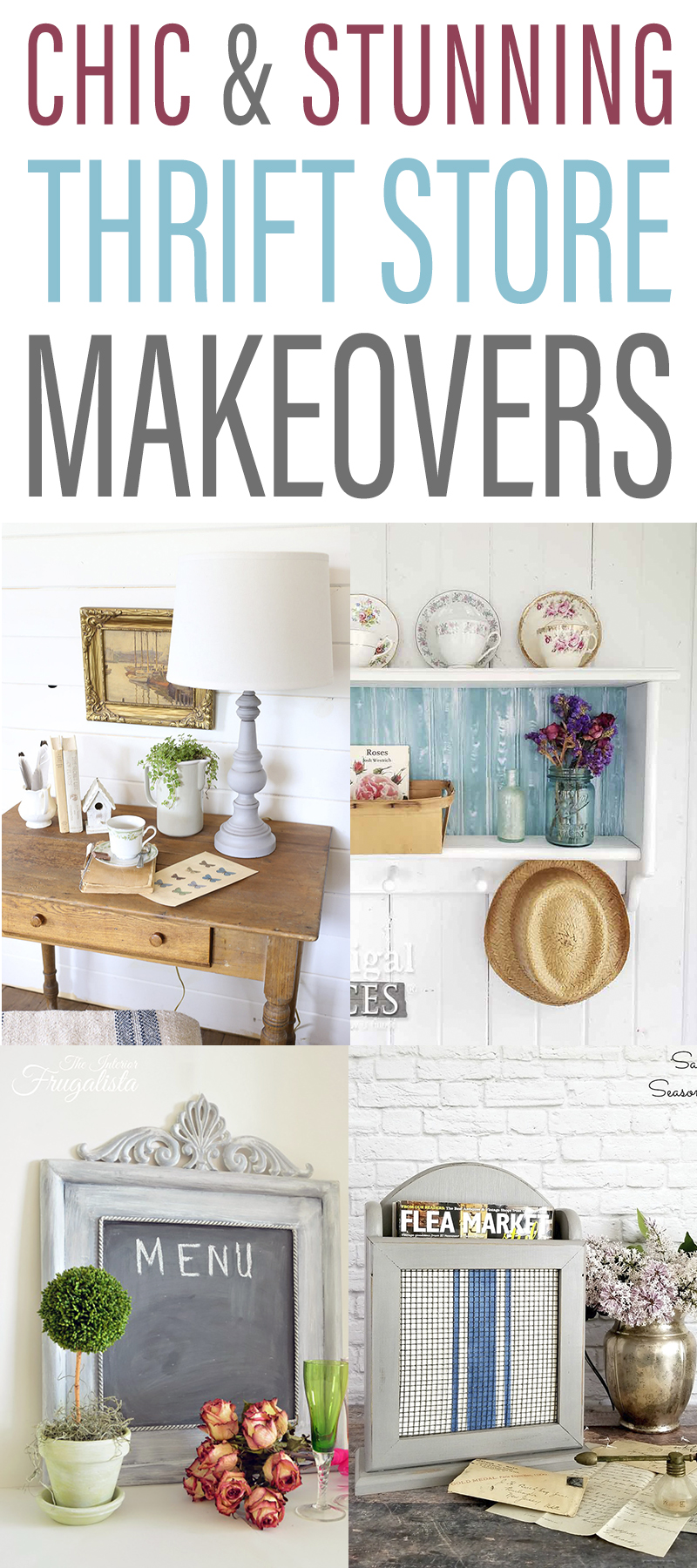 Chic and Stunning Farmhouse Thrift Store Makeovers