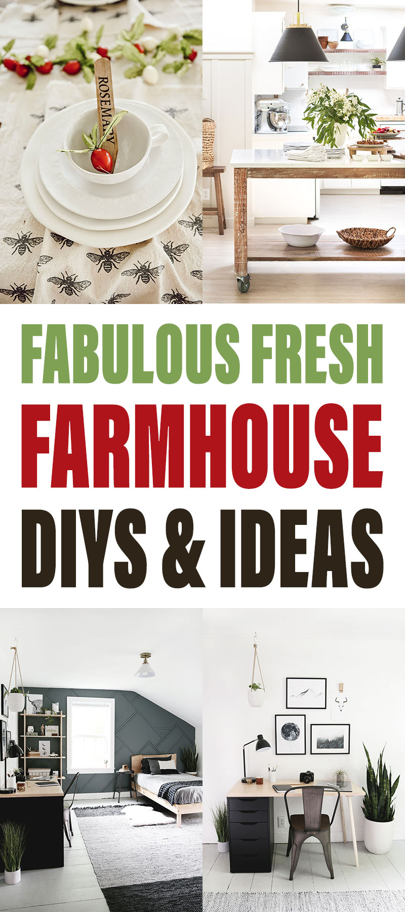 Fabulous Fresh Farmhouse DIYS and Ideas