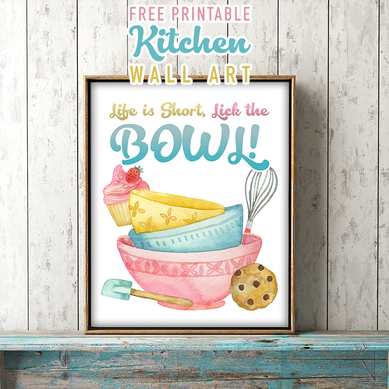 Fabulous and Free Printable Kitchen Wall Art - The Cottage ...