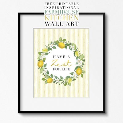 Free Printable Inspirational Farmhouse Kitchen Wall Art