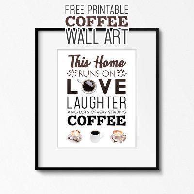 Free Printable Coffee Wall Art