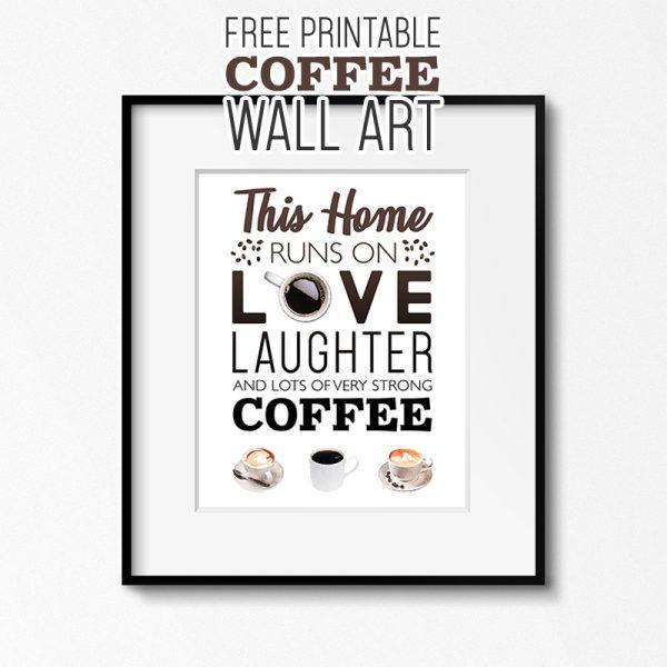 Free Printable Coffee Wall Art Tower