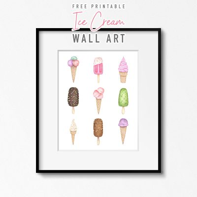 Free Printable Ice Cream Wall Art