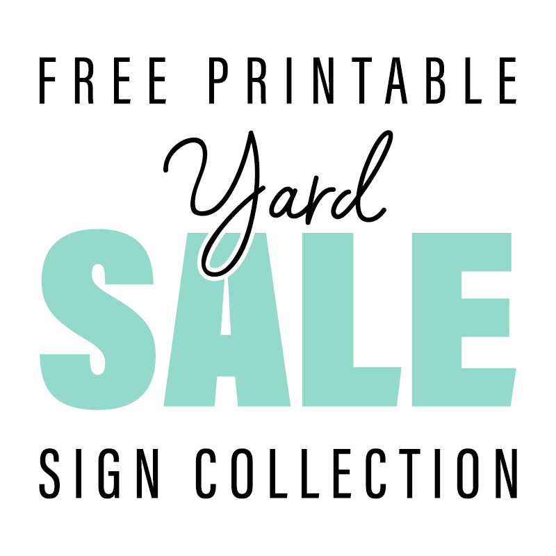 photo relating to Printable Sale Sign called Totally free Printable Backyard Sale Signal Choice - The Cottage Marketplace