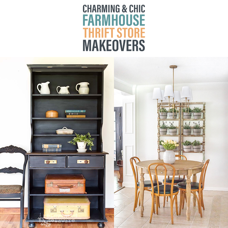 Charming and Chic Farmhouse Thrift Store Makeovers are here for you to see and to be inspired by! Pick up some helpful tips... ideas and tons of inspiration