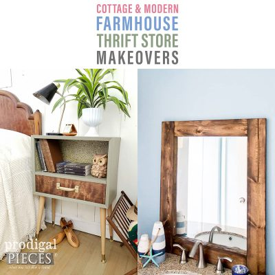 Cottage and Modern Farmhouse Thrift Store Makeovers