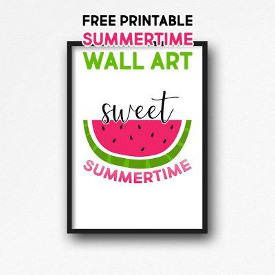 Free Printable Summertime Wall Art