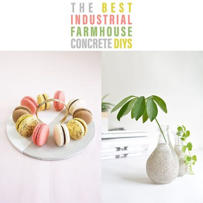 The Best DIY Industrial Farmhouse Concrete DIYS