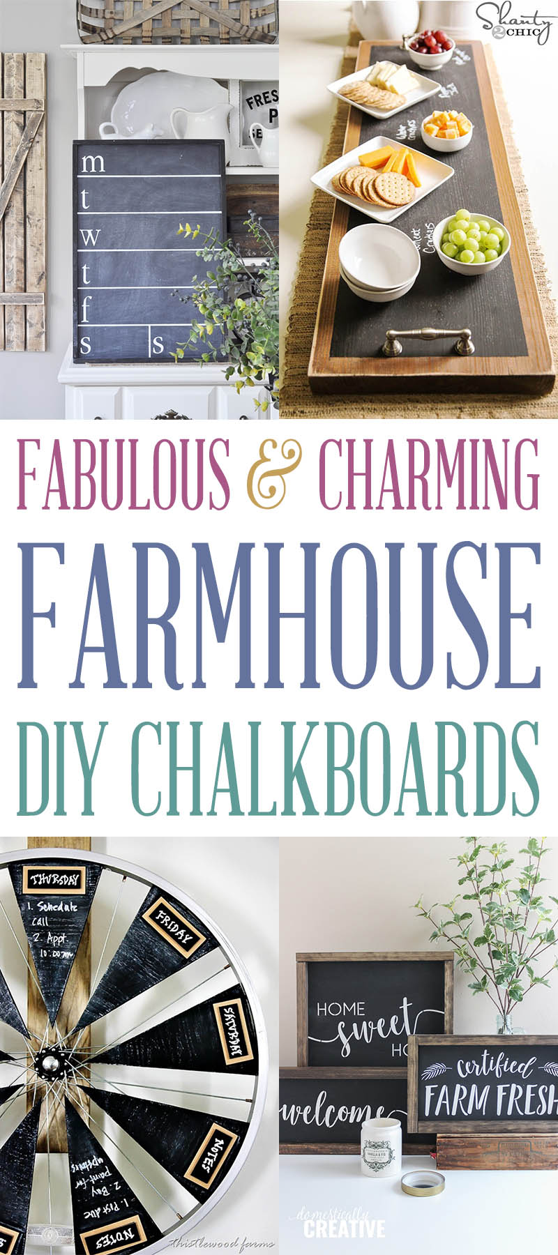 Fabulous and Charming Farmhouse DIY Chalkboards